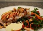 Fikon och valnötsspäckad marulksfilé
