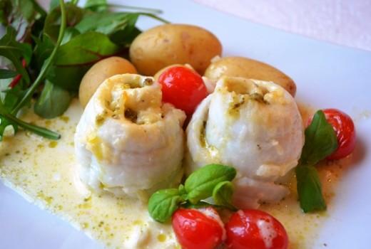 Rödtunga med italienska smaker