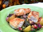 Havskatt på varm salladsbädd