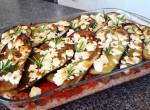 Lammfärslåda med aubergine och fetaost