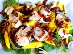 Torskkinder med mango och bacon