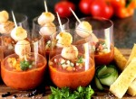 Gazpacho med pilgrimsmusslor